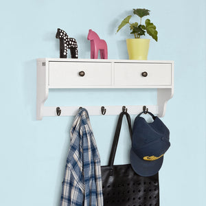 SoBuy wall coat rack wall coat rack wall shelves FRG178-W