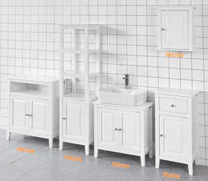 SoBuy Bathroom Cabinet Column Bathroom White Bathroom Drawer With Drawers Frg202-W