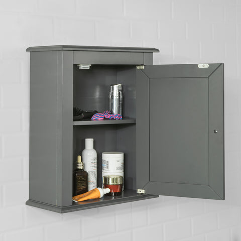 SoBuy Wall cabinet for Bathroom or Kitchen, W40 * D18 * H49cm, Gray, FRG203-DG