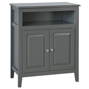 SoBuy Base Cabinet for Bathroom or Entrance, sideboard, with Two Doors, Gray, L69P33 * H80cm FRG204-DG