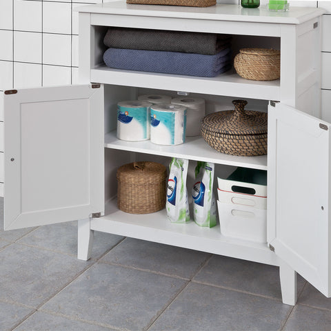 SoBuy Bathroom Cabinet Kitchen Cabinet White Entrance Cabinet With Drawers Frg204-W