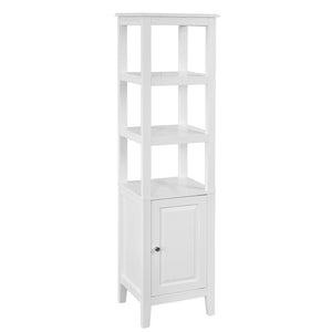 SoBuy Bathroom Cabinet Column Bathroom White Bathroom Drawer With Drawers Frg205-W