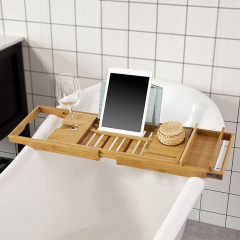 SoBuy Bathroom Accessories Bath Shelf Set Bathtub Tray Wood Frg207-N