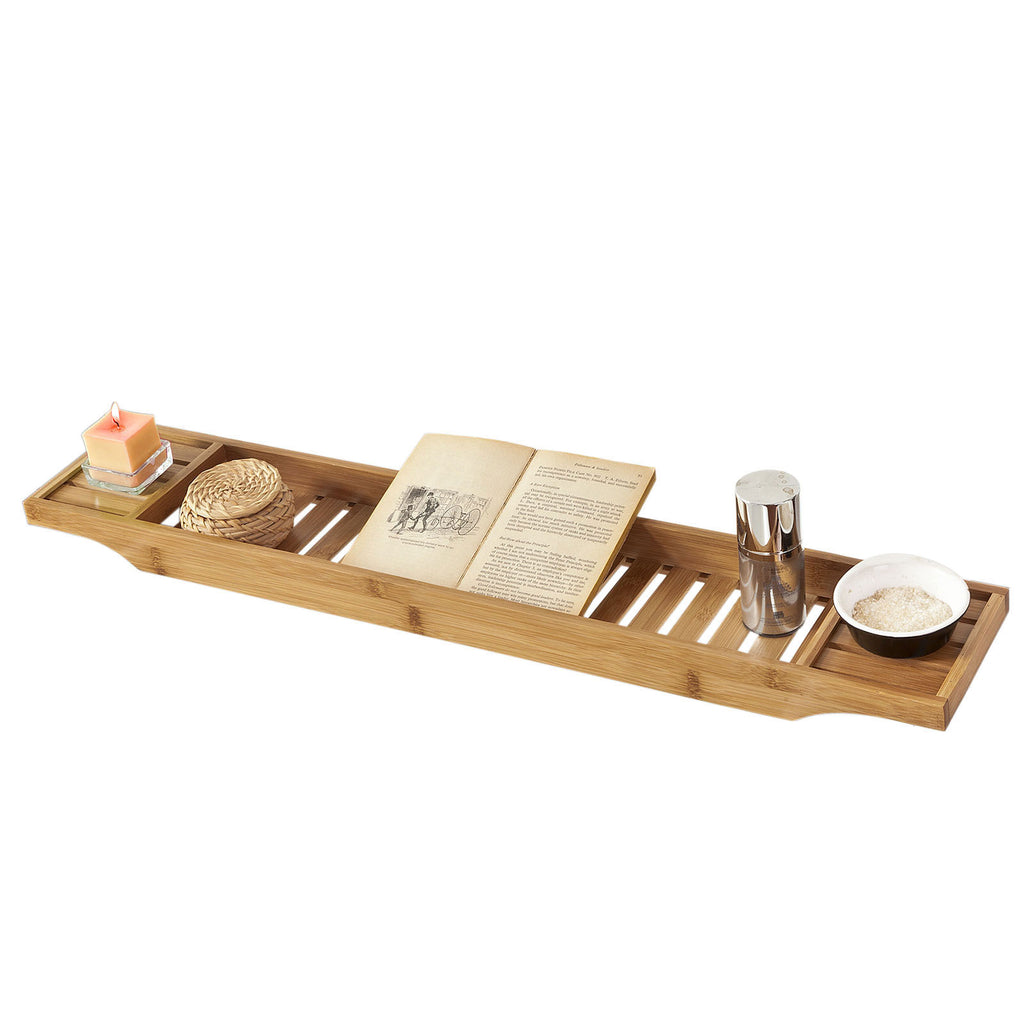 SoBuy Bathroom Accessories Bath Shelf Set Bathtub Tray Wood Frg212-N