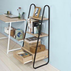 SoBuy Bookshelf Ladder Bookshelf Wood Ladder Bookshelf Frg219-N