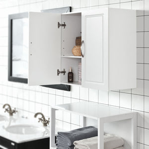 SoBuy Bathroom Wall Cabinet Kitchen Bathroom Cabinet White Frg231-W