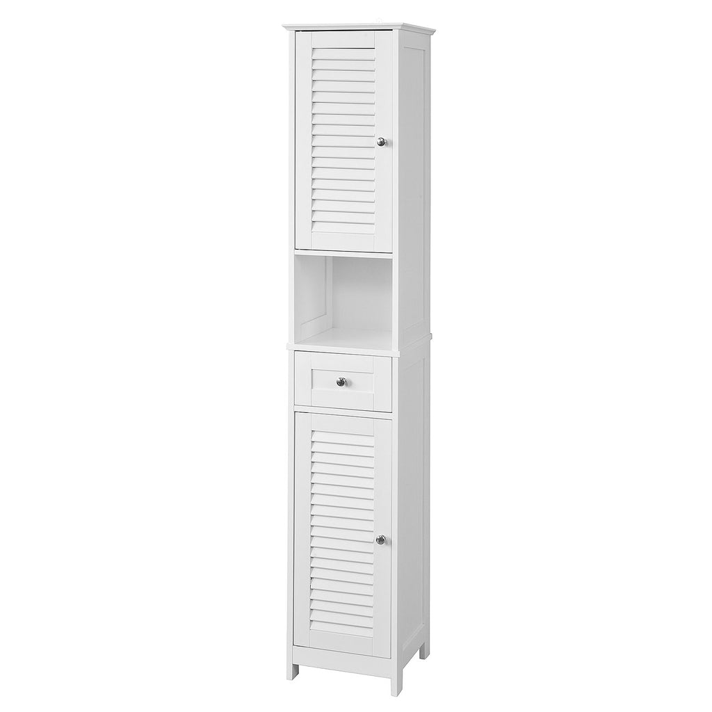 SoBuy Bathroom Cabinet Column Bathroom White Bathroom Drawer With Drawers Frg236-W