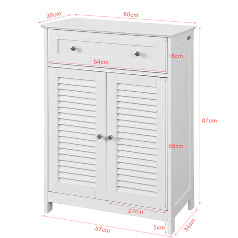 SoBuy Bathroom Cabinet Column Bathroom White Bathroom Drawer With Drawers Frg238-W