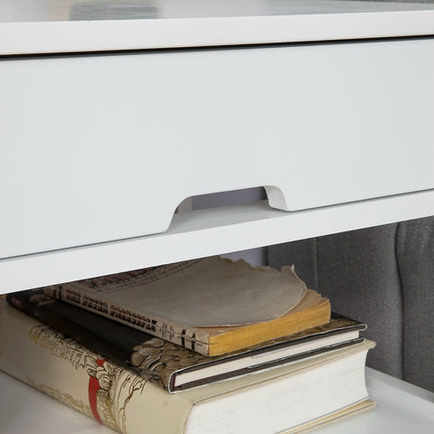 SoBuy bedside table small bedside table white sofa FRG258-W