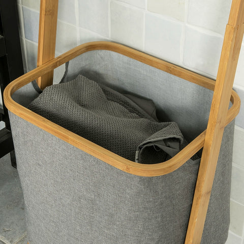 SoBuy Laundry Basket Dirty Clothes Basket Laundry Basket Bamboo wood Frg263-N
