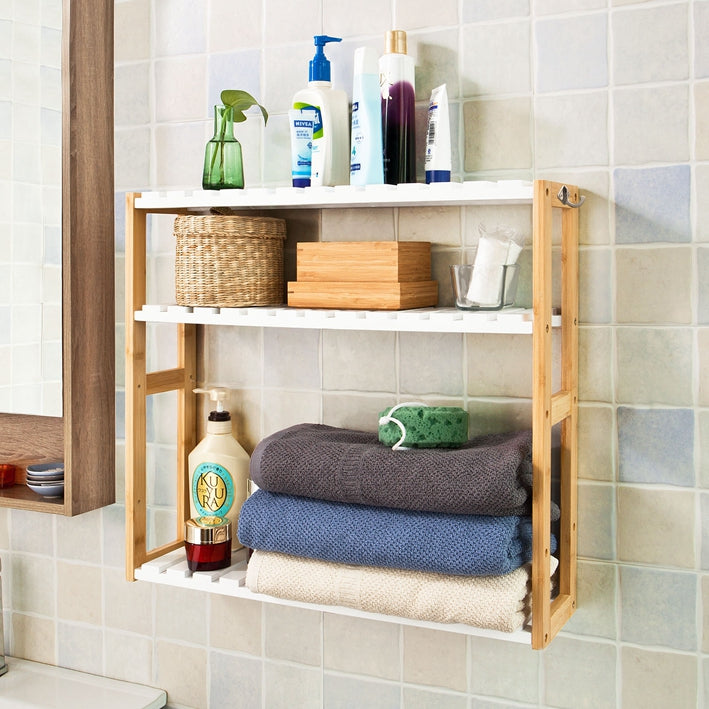 SoBuy Wall shelves hanger bathroom cabinet FRG28-WN
