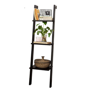 SoBuy Bookshelf Ladder Bookshelf Ladder Bookshelf Black Frg32-Sch
