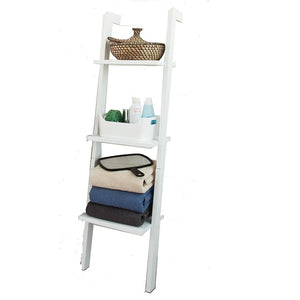 SoBuy Bookshelf Ladder Bookcase White Ladder Bookcase Frg32-W