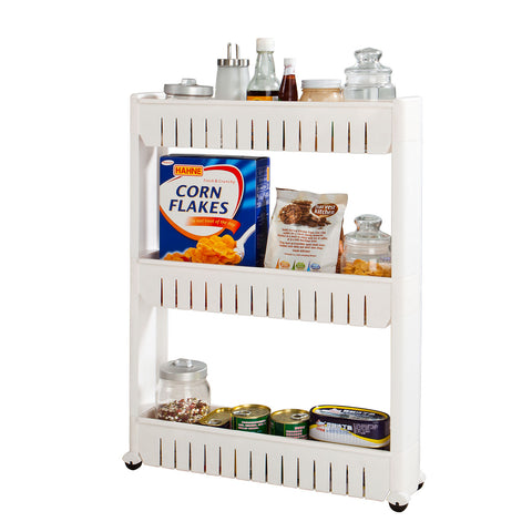 SoBuy Space Saving Bathroom Cabinet Space Saving Bathroom Storage Tray White Frg40-W