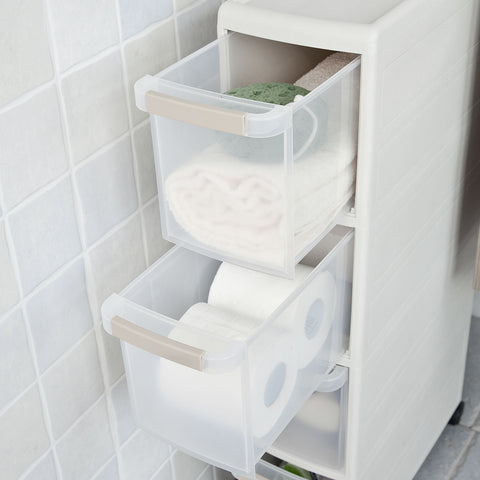 SoBuy Space Saving Bathroom Cabinet Space Saving Bathroom Storage Tray Gray Frg41-Hg