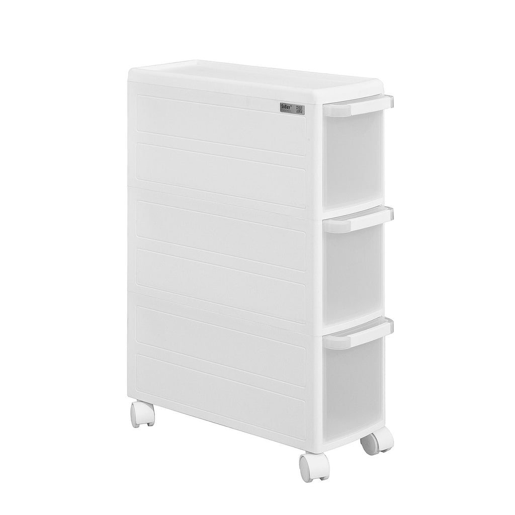 SoBuy Space-saving trolley, bathroom trolley, storage on wheels, FRG41-KW