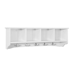 SoBuy Bookcase Entrance Hall Hanger White Frg48-LW