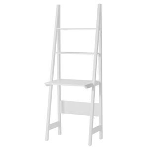 SoBuy Bookshelf Ladder Bookcase White Ladder Bookcase Frg60-W