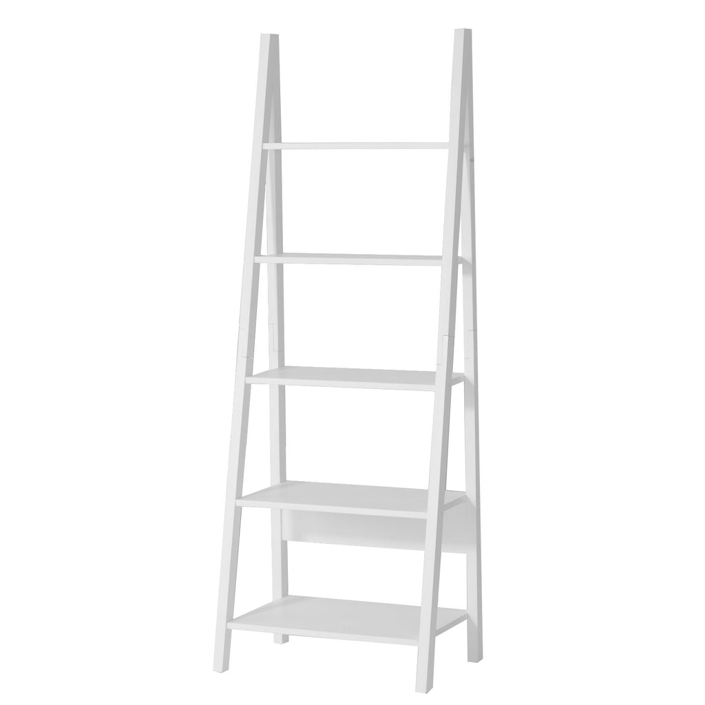SoBuy Bookshelf Ladder Bookcase White Ladder Bookcase Frg61-W