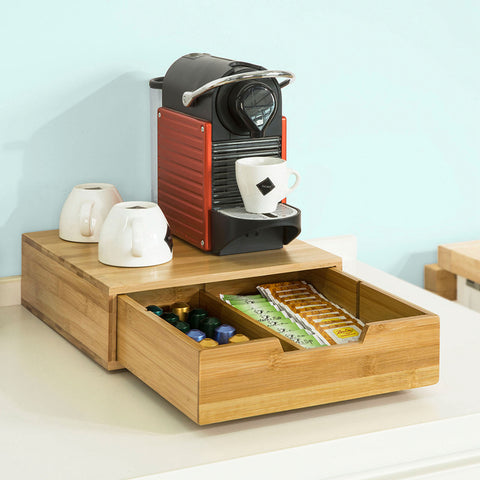 SoBuy Capsule Holder Pods Holder Tea Bags Wood Frg70-N