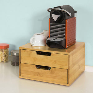 SoBuy Capsule Holder Pods Holder Tea Bags Wood Frg82-N