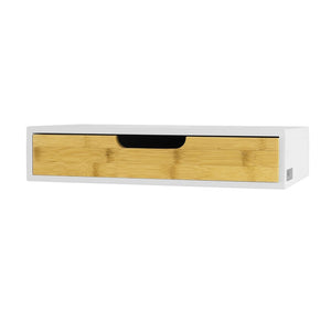 SoBuy Wall Shelf Library Shelf With White Drawer Frg92-Wn
