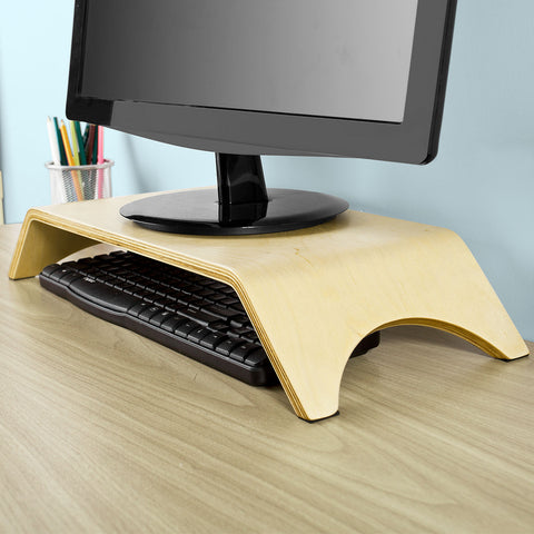 SoBuy Pc Monitor Stand Stand Desktop Pc Monitor Stand Wood Frg98-N