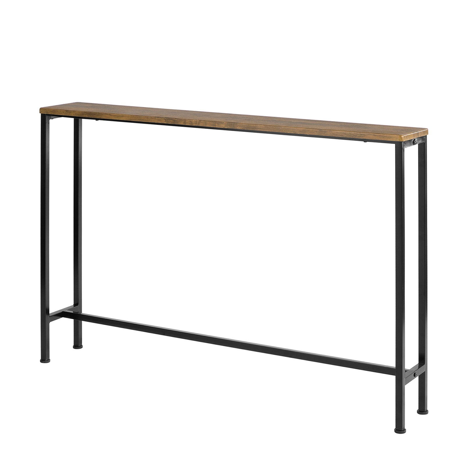 SoBuy Vintage Console Table Entrance Table Space Saving Sofa Table L120 * W20 * H80 cm Brown FSB19-XL-N