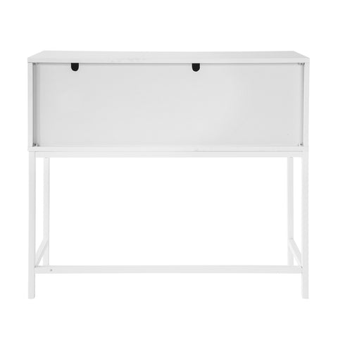 SoBuy Console Entrance Cabinet with 1 Large space-saving cabinet W92 * D30 * H80 cm, White FSB21-W