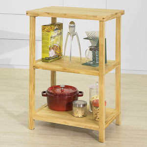 SoBuy Console table Shelf Kitchen Microwave holder Solid Pine Wood FSB22-N
