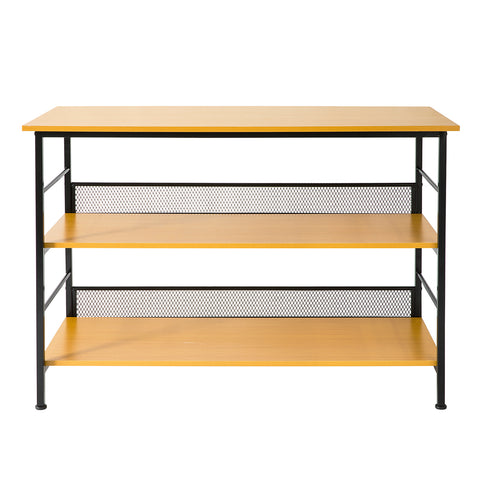 SoBuy Kitchen Table with 3 Shelves Kitchen Cabinet Entrance Console FSB27-DN