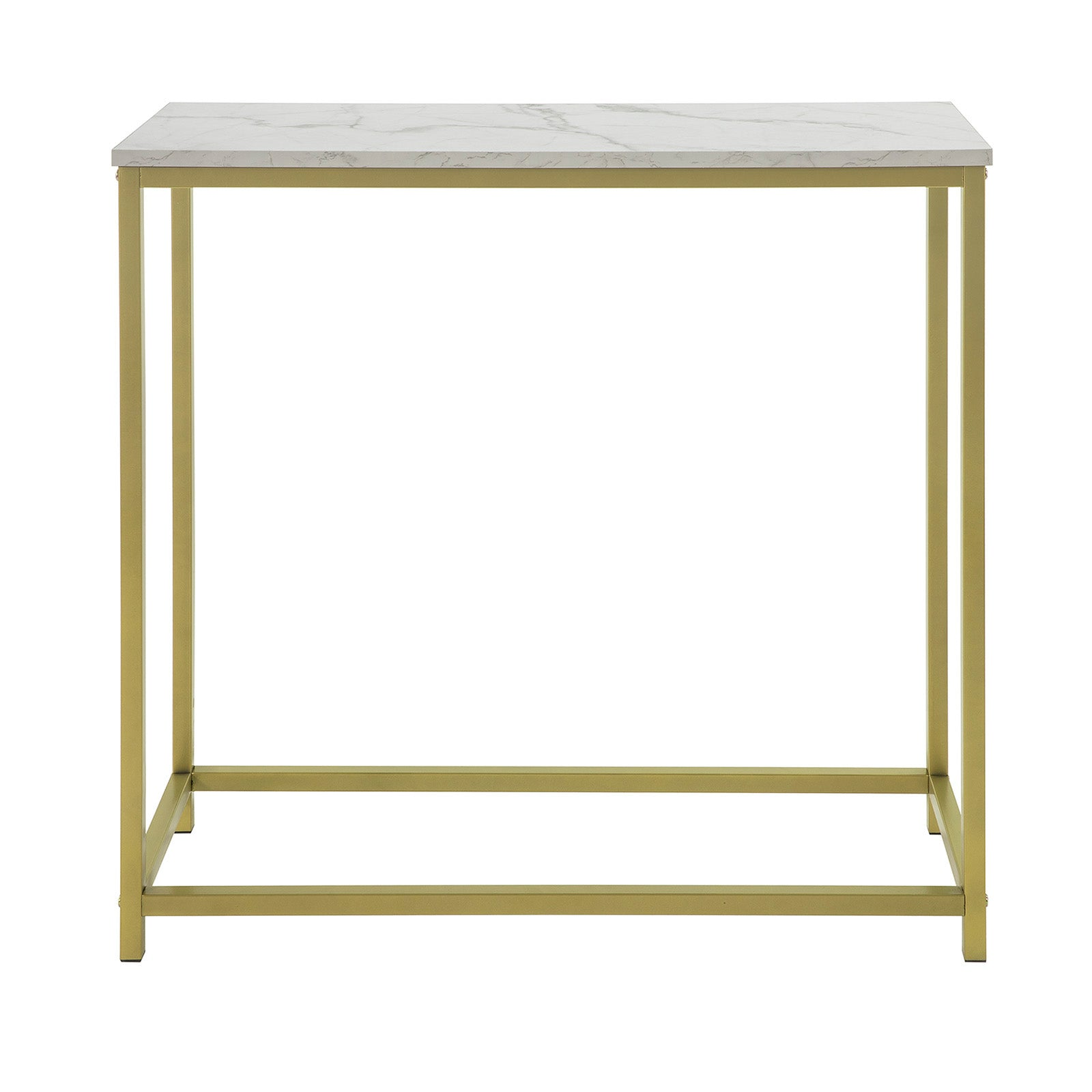SoBuy Console table Modern Entrance Marble Look Vintage Style L80 * P30 * 75cm FSB29-G