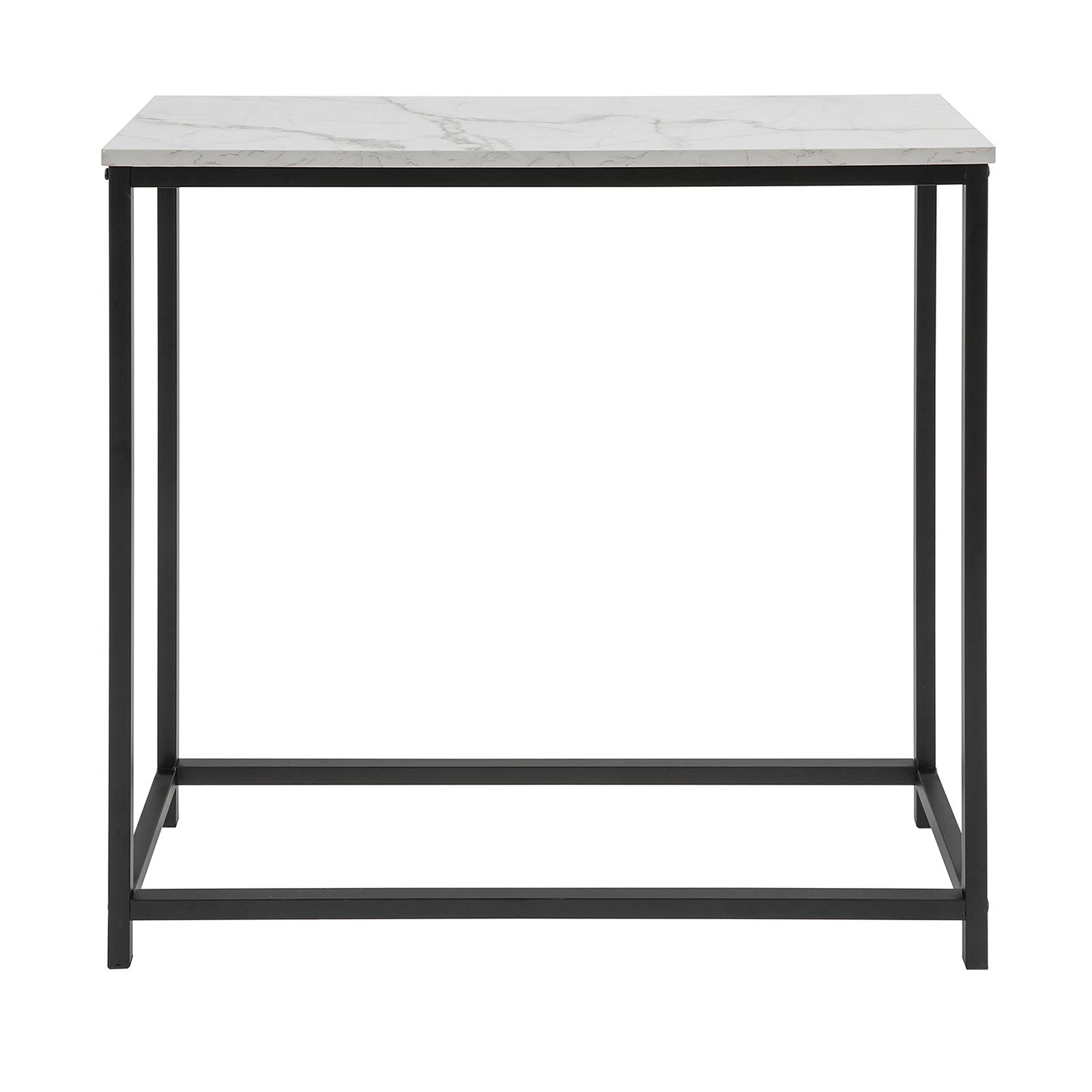 SoBuy Console table Entrance Modern Aspect Marble Vintage Style L80 * P30 * 75cm FSB29-SCH
