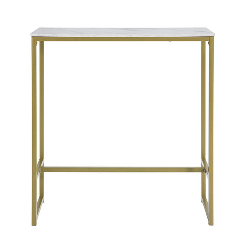 SoBuy Marble Effect Console Table Console Table Hallway Table Space Saving Sofa Table, FSB34-G
