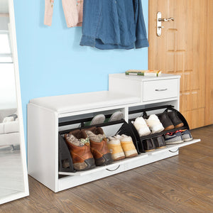 SoBuy shoe rack bench shoe rack white FSR17-W