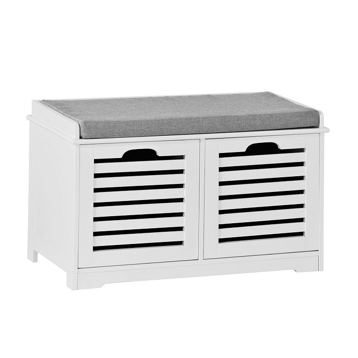 SoBuy Shack Rack Bench Shoe Rack Λευκό Shoe Rack Με Κάθισμα Fsr23-KW