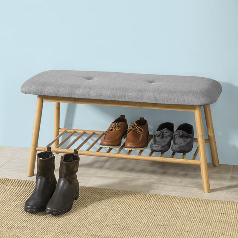 SoBuy Shoe rack bench Chest for Bathroom FSR24-K-HG