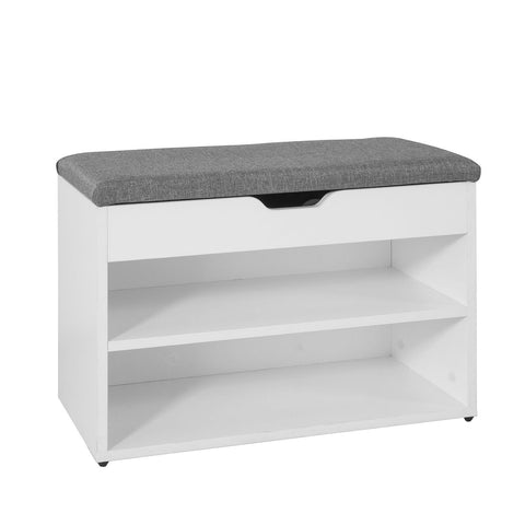SoBuy Entrance Shoe Cabinet Shoe Storage Choe Chest with White Cushion FSR25-HG