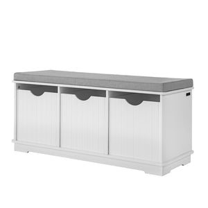 SoBuy Shoe Rack Bench Shoe Rack White Fsr30-W