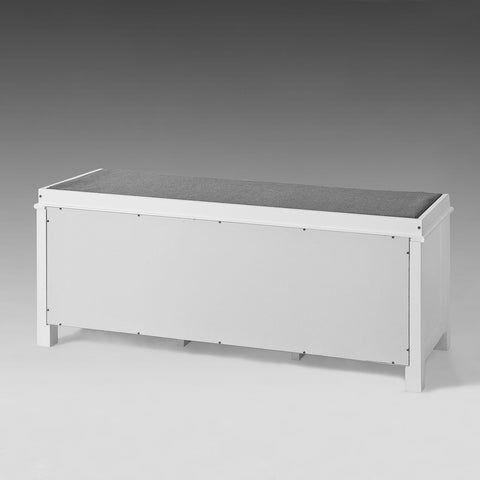 SoBuy Shoe Rack Bench Shoe Rack White With Seat Fsr35-W