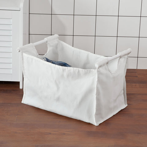 SoBuy Laundry Basket Laundry Basket White Laundry Basket With Seat Fsr40-W