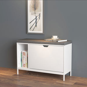 SoBuy Space-saving shoe cabinet Space-saving entrance cabinet Adjustable W79 * D30 * H53cm White FSR70-W