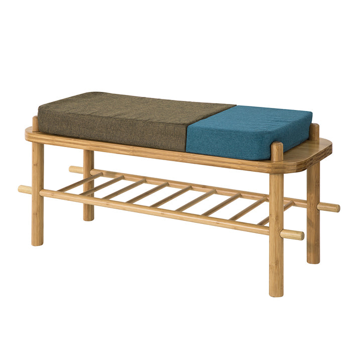 SoBuy Shoe rack bench Maximum load: 150 kg, with seat and back in 8 cm thickness FSR73-N