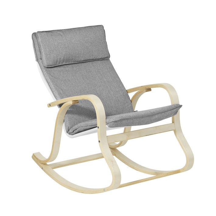 SoBuy Rocking Chair Sprostite se Fotelj Siv Fotelj Fst15-Dg