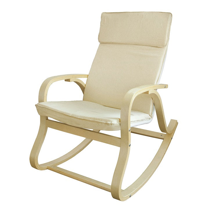 SoBuy Rocking Chair Sprostite se Fotelj Bel Fotelj Fst15-W