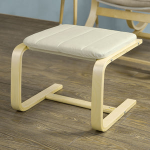 SoBuy Footrest for armchair for white rocking chairs FST38-W