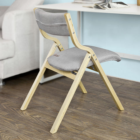SoBuy Folding Chair Desk Chair Kitchen Chair Gray Fst40-HG