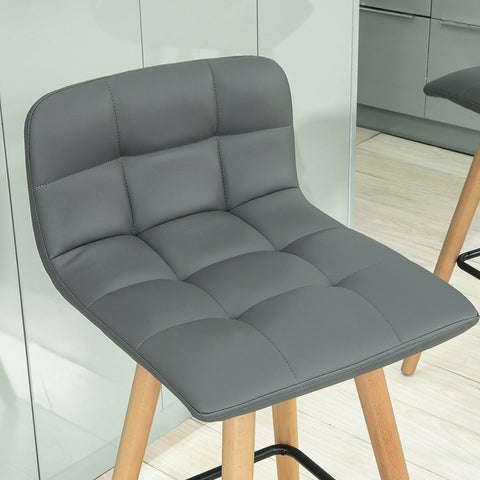 SoBuy High Bar Stool with footrest and Backrest, Kitchen Chair, FST50-HG
