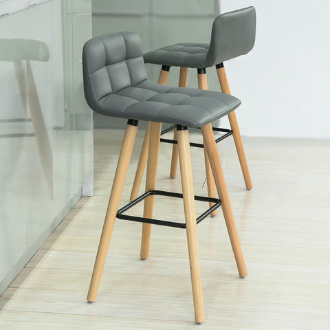 SoBuy 2 High Bar Chairs with Footrest and Back for Bar Stools FST50-HGX2
