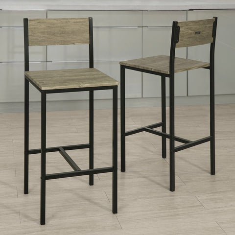 SoBuy high stool bar stool wooden bar stools FST53-Ax4